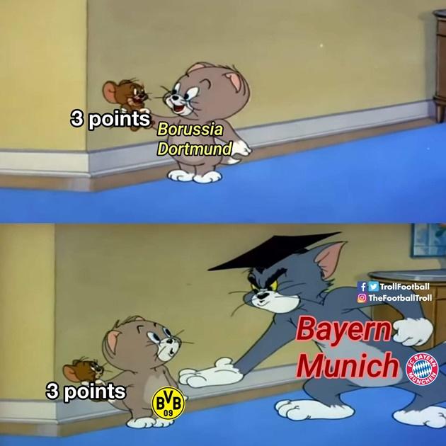 Đoạt 3 điểm từ tay Dortmund, nhà vua Bundesliga qua mặt RB Leipzig, lấy lại ngôi đầu BXH.