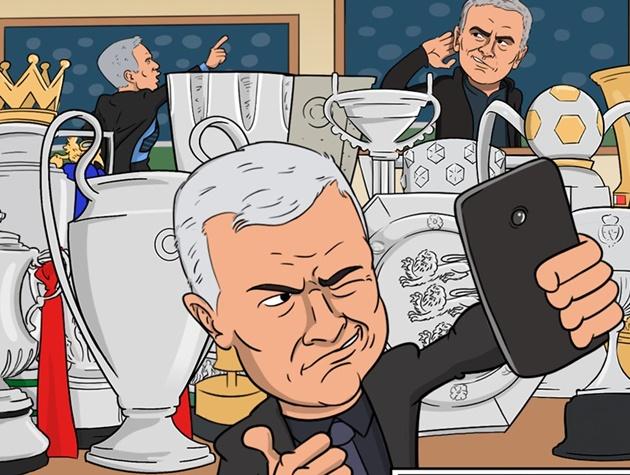 """""""Người đặc biệt"""" Mourinho cùng các học trò dần trở thành ứng viên nặng ký trong cuộc đua vô địch."""