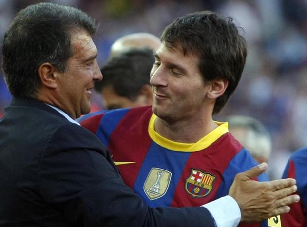 Laporta và Messi.