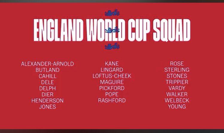 CHÍNH THỨC: Anh công bố đội hình tham dự World Cup hè này - Bóng Đá