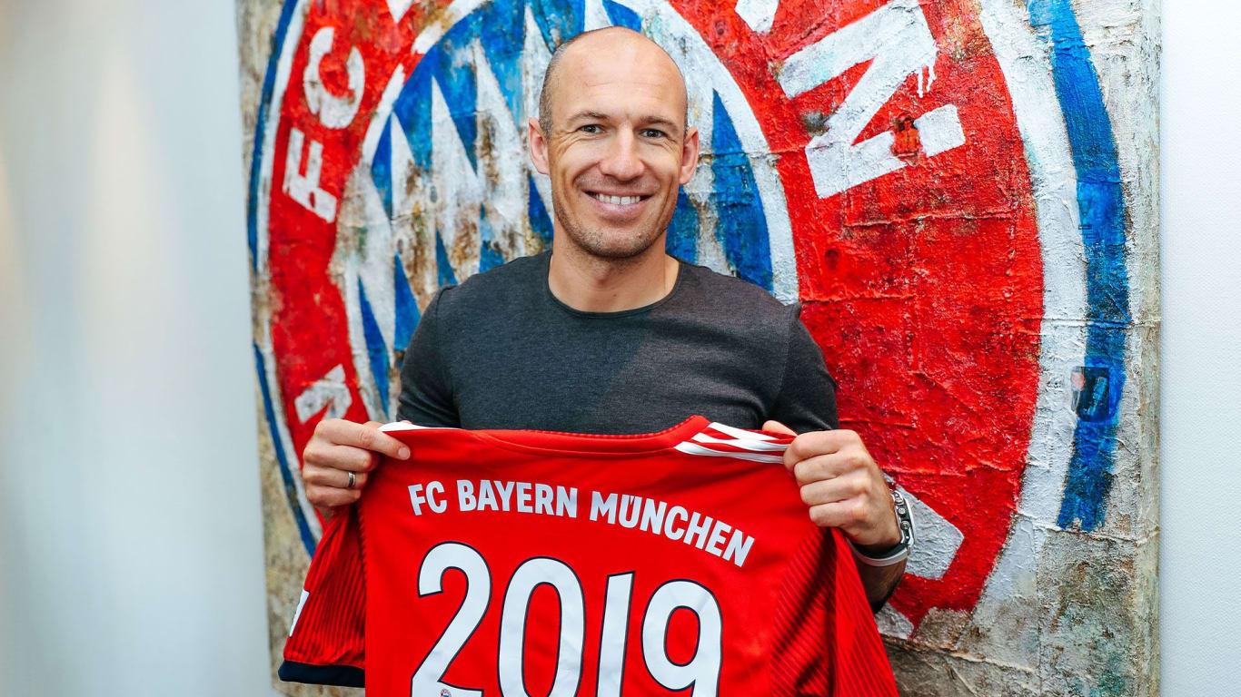 Bayern Munich gia hạn hợp đồng thành công với Arjen Robben đến năm 2019 - Bóng Đá