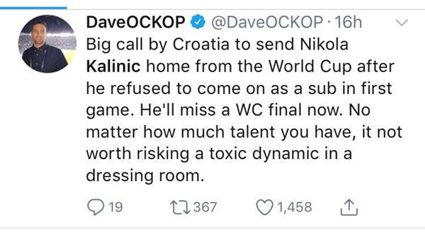 Tiền đạo bị loại khỏi ĐT Croatia trở thành tâm điểm của sự chế giễu - Bóng Đá