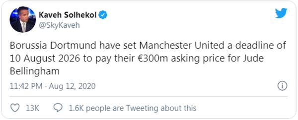 Dortmund ra mức giá khó tin cho Man Utd nếu muốn sở hữu Bellingham trong tương lai - Bóng Đá
