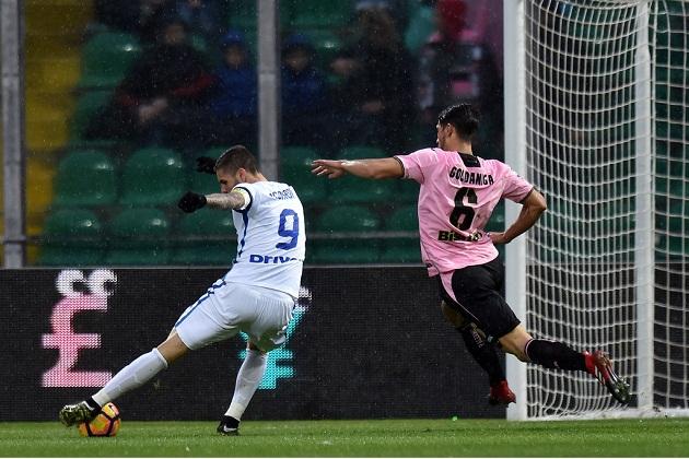 Chùm ảnh: Inter Milan gian nan vượt ải Palermo