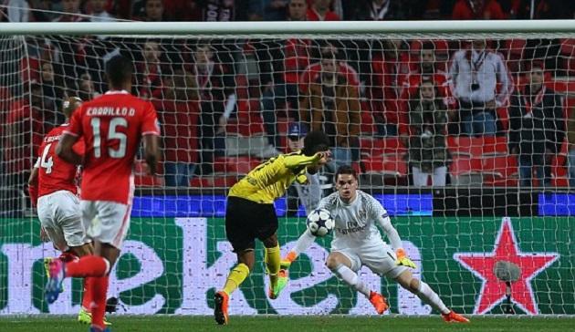 Aubameyang sút hỏng phạt đền, Dortmund sảy chân đáng tiếc trước Benfica - Bóng Đá