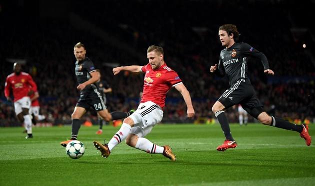 Dư âm Man Utd 2-1 CSKA Moscow: Luke Shaw sẽ thay đổi nửa mùa còn lại của Mourinho - Bóng Đá