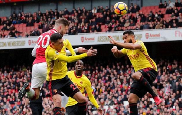 TRỰC TIẾP Arsenal 1-0 Watford: Mustafi không chiến thành công (H1) - Bóng Đá