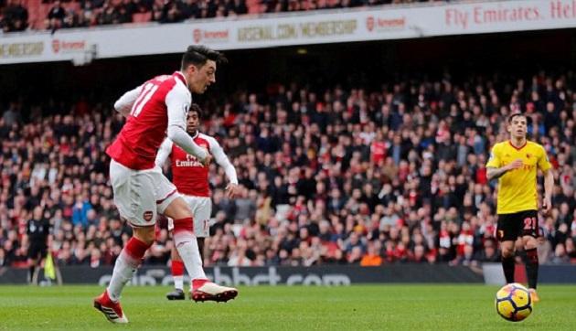 TRỰC TIẾP Arsenal 1-0 Watford: Ozil suýt ghi bàn (H1) - Bóng Đá