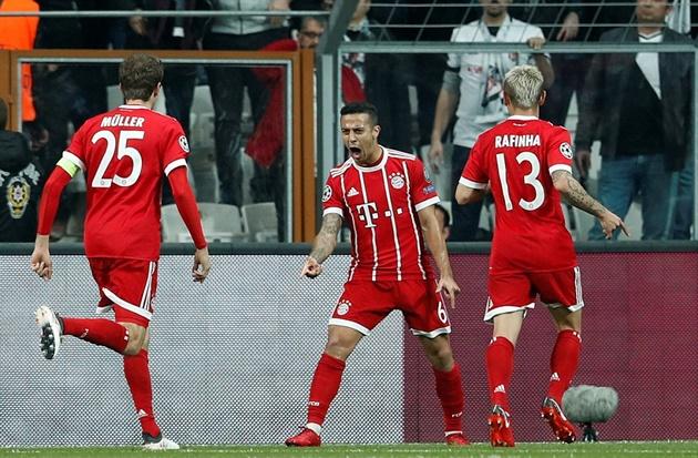 Thắng dễ Besiktas, Bayern Munich hiên ngang tiến vào vòng 8 đội mạnh nhất - Bóng Đá