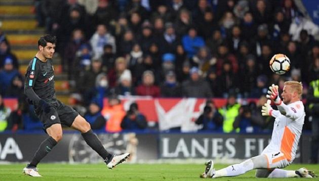 Kết quả Leicester 1-2 Chelsea: Morata giải hạn
