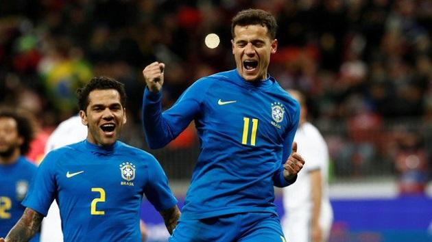 Đá với nửa phần công lực, Brazil vẫn dễ dàng thắng đậm chủ nhà Nga