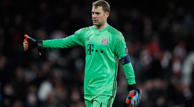 Bayern Munich goalkeeper Manuel Neuer: