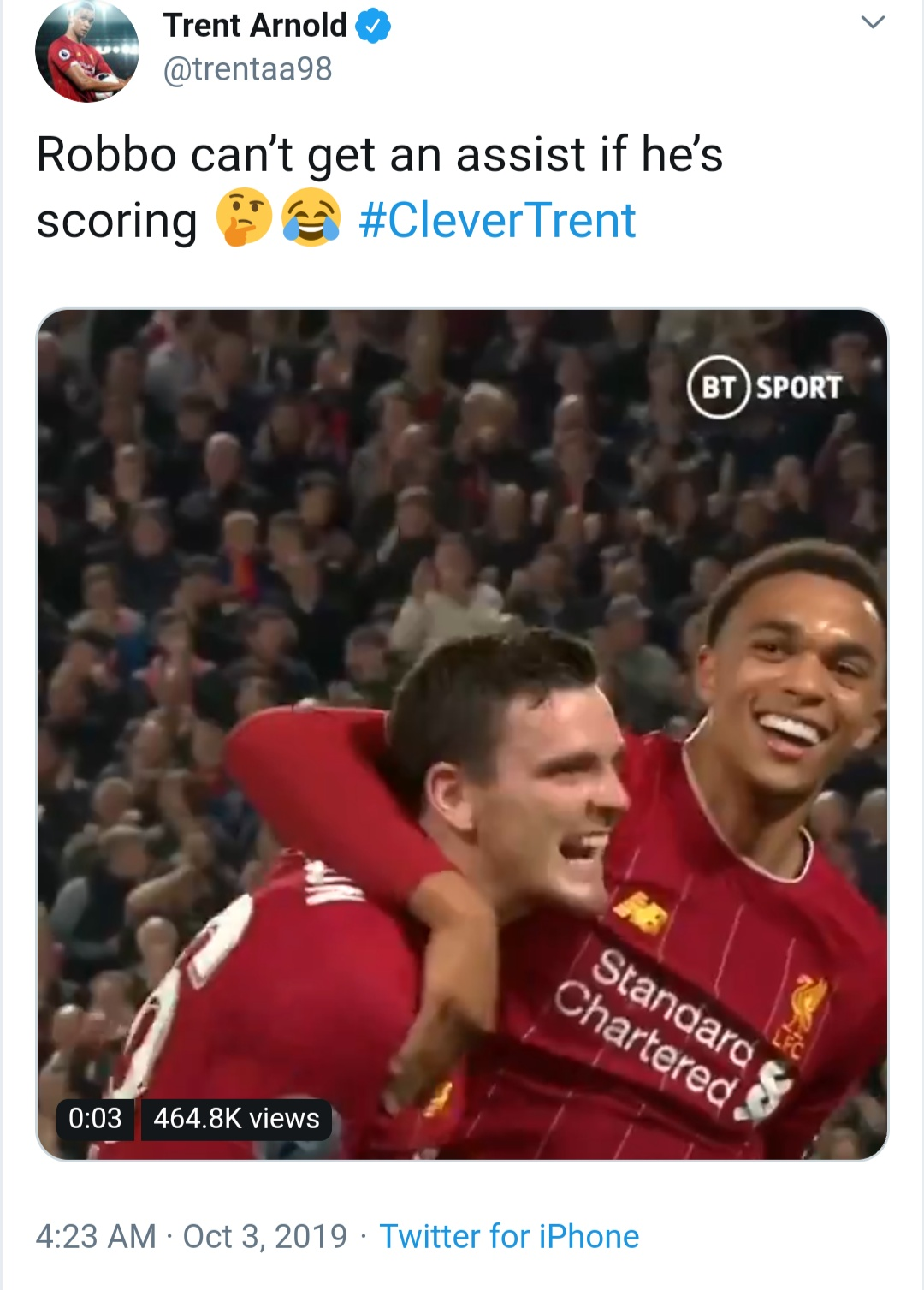 Trent Alexander Arnold's 'clever' Andy Robertson decision as hilarious Liverpool bet renews - Bóng Đá