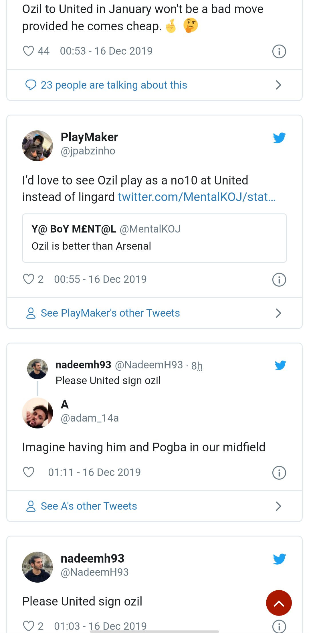 fans want man utd to buy Ozil - Bóng Đá