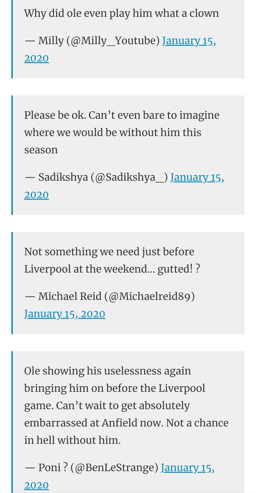 man utd fans react to solskjaer after rashford injured - Bóng Đá