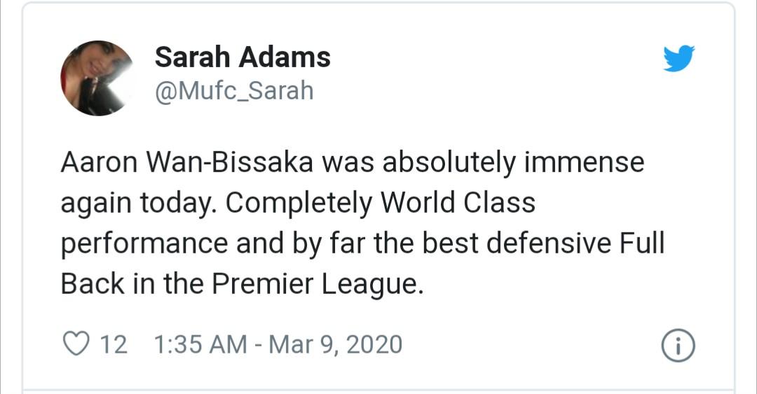 man utd fans react to wan-bissaka - Bóng Đá