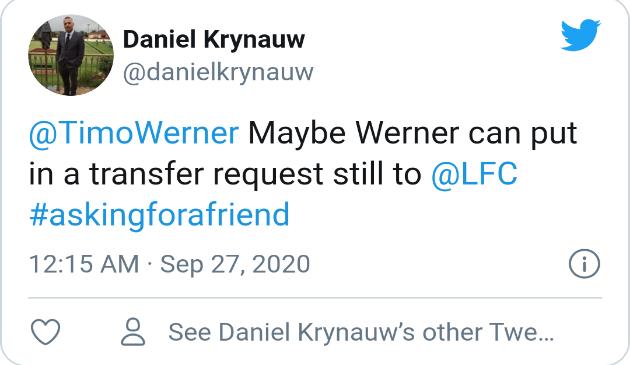 Liverpool fans react to Werner's performance against West Brom  - Bóng Đá
