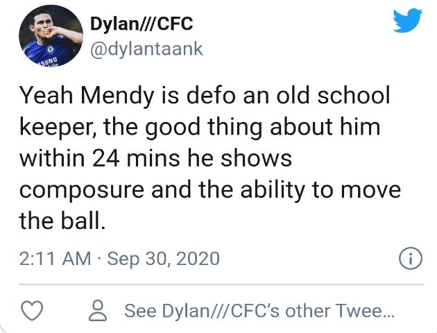 Chelsea fans react to Mendy's performance  - Bóng Đá