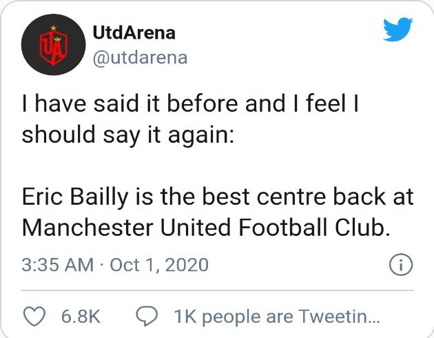 Man utd fans react to bailly's performance  - Bóng Đá