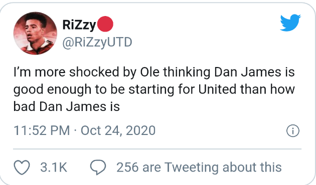 Man United fans slam Daniel James  - Bóng Đá