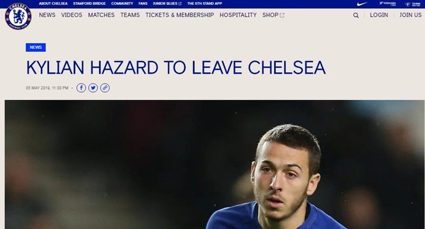 CHÍNH THỨC: Chelsea đẩy đi một Hazard - Bóng Đá