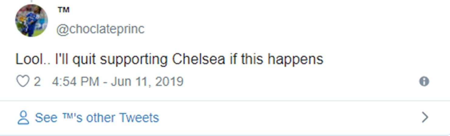 CĐV Chelsea tức giận: