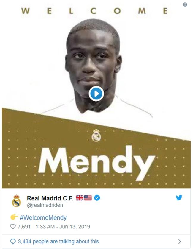 CHÍNH THỨC: Real Madrid đón tân binh thứ 5, hợp đồng 48 triệu euro - Bóng Đá
