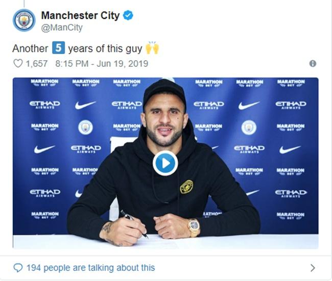 CHÍNH THỨC: Man City trói chân thành công