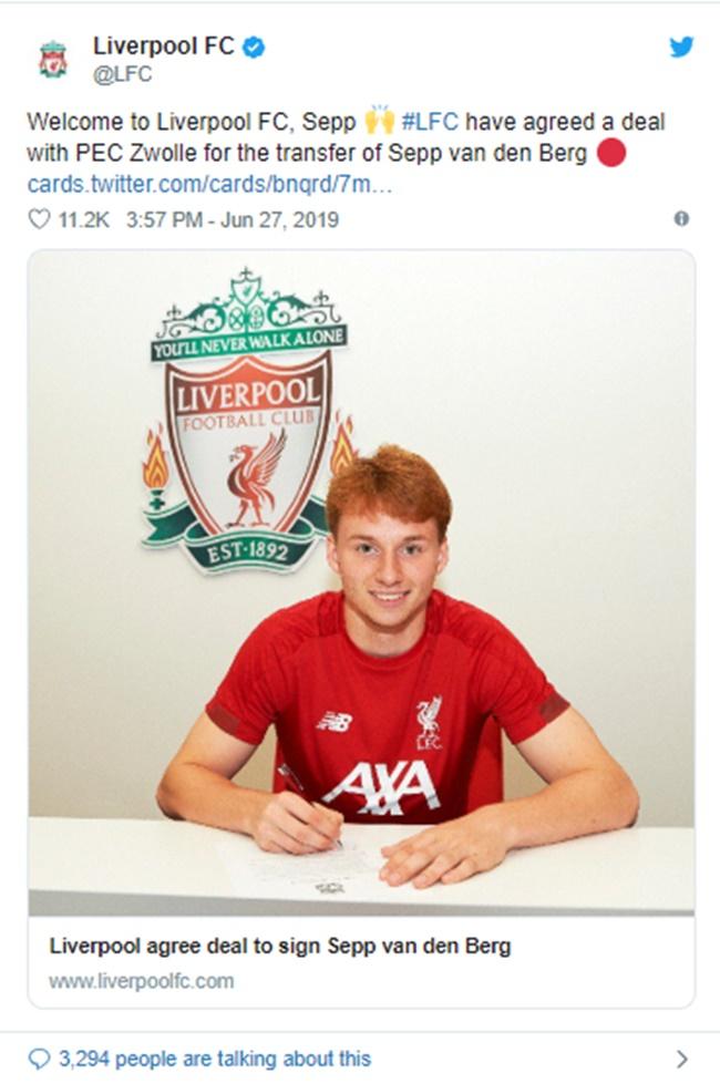 Liverpool mua thành công De Berg - Bóng Đá