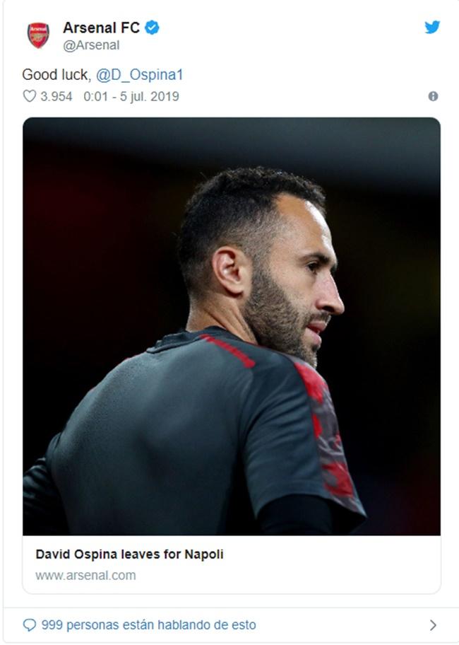 CHÍNH THỨC: Sau Cech, Arsenal tiếp tục chia tay 1 thủ thành chất lượng - Bóng Đá