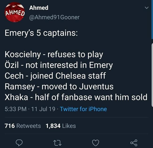 Arsenal khó lòng thành công nếu thiếu người