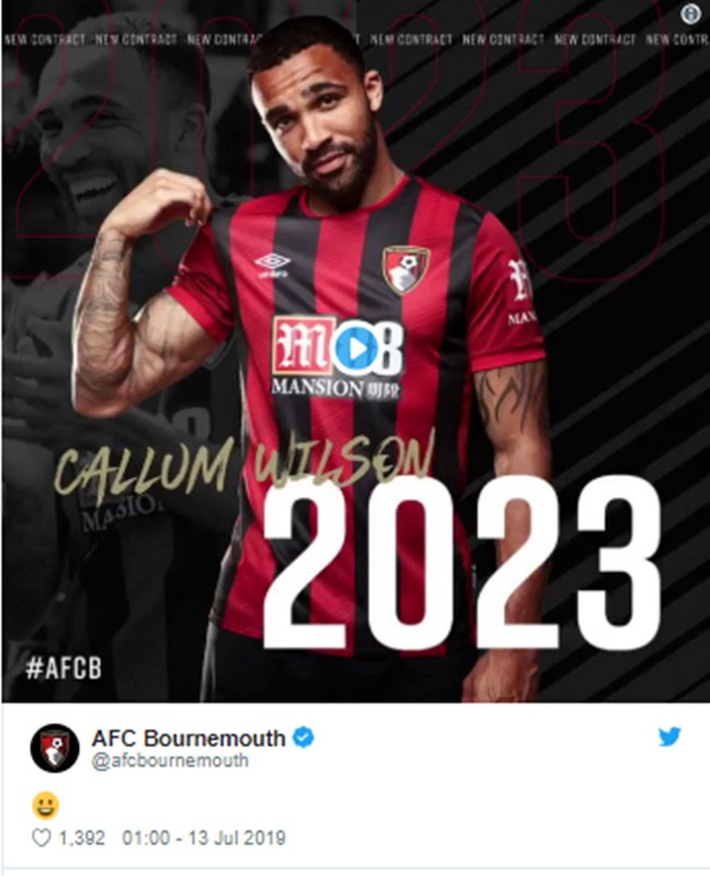 Callum Wilson signs new four-year Bournemouth deal - Bóng Đá