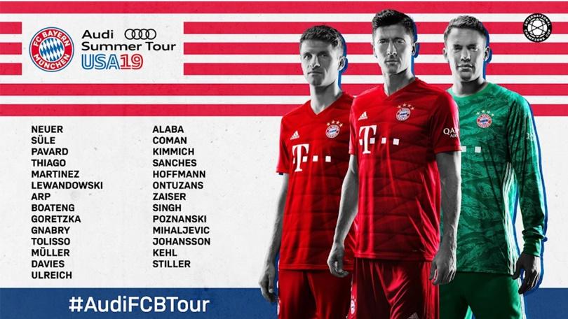 Bayern triệu tập đội hình du đấu - Bóng Đá
