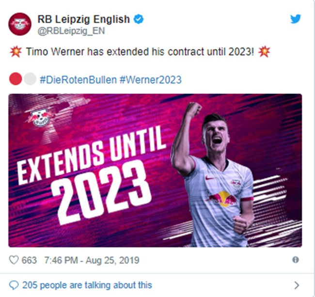 Bayern target Werner signs four-year contract extension to stay with RB Leipzig - Bóng Đá