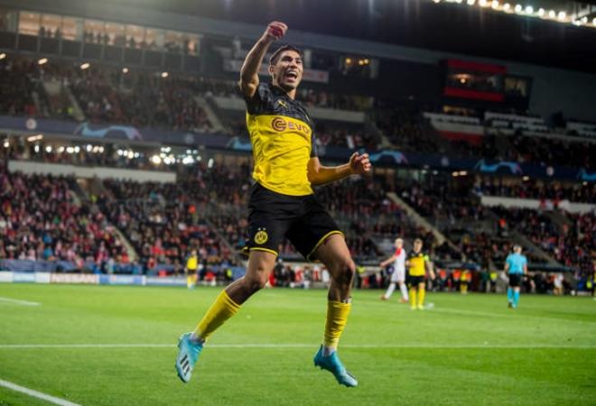 Hakimi đang thi đấu hay ở Dortmund.