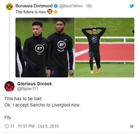 LIVERPOOL FANS REACT TO DORTMUND TWEET Sancho, Gomez, Arnold - Bóng Đá