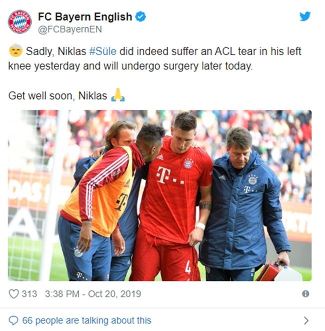 CHÍNH THỨC: Bayern xác nhận chấn thương của Sule, gần như mất luôn EURO - Bóng Đá