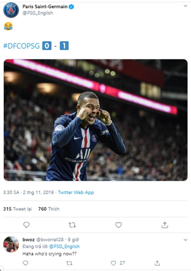 Thua Dijon, PSG đã thấm câu