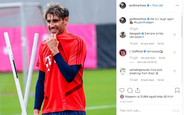 Martinez post ảnh instagram khi Kovac bị sa thải - Bóng Đá