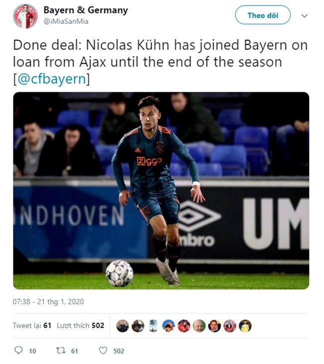 Nhanh như chớp, Bayern đón tân binh mùa đông - Bóng Đá