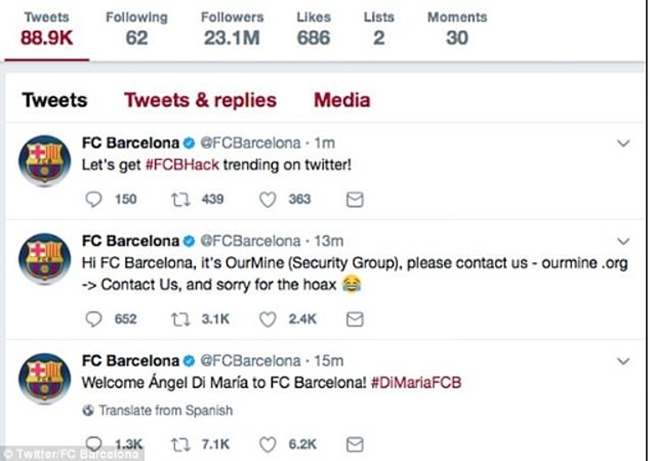 Hackers Claim Neymar Will Return to Barcelona - Bóng Đá