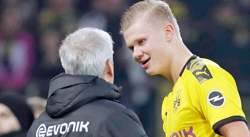 Lucien Favre looks to Erling Haaland to continue his UEFA Champions League scoring - Bóng Đá