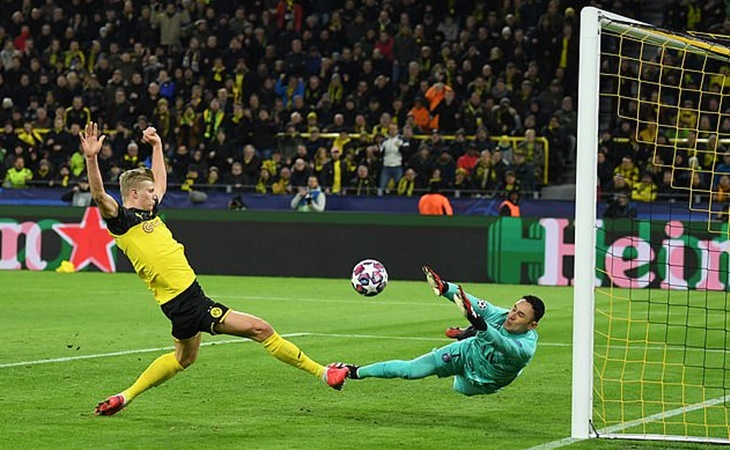 Erling Haaland becomes quickest player EVER to score 10 Champions League goals - Bóng Đá