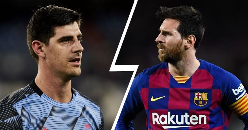 Barcelona mock Thibaut Courtois after Lionel Messi comments ahead of El Clasico   - Bóng Đá