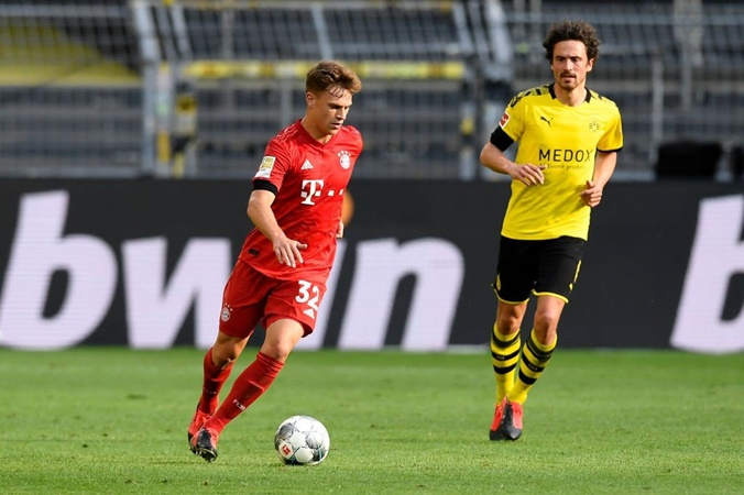 Joshua Kimmich covered 13.73 km against Borussia Dortmund - Bóng Đá