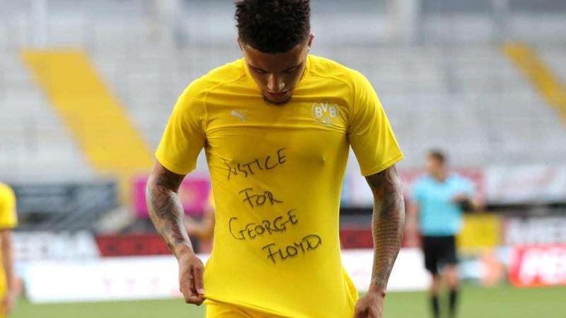 'We have to fight for justice' - Sancho speaks on 'bittersweet' hat-trick after George Floyd tribute - Bóng Đá