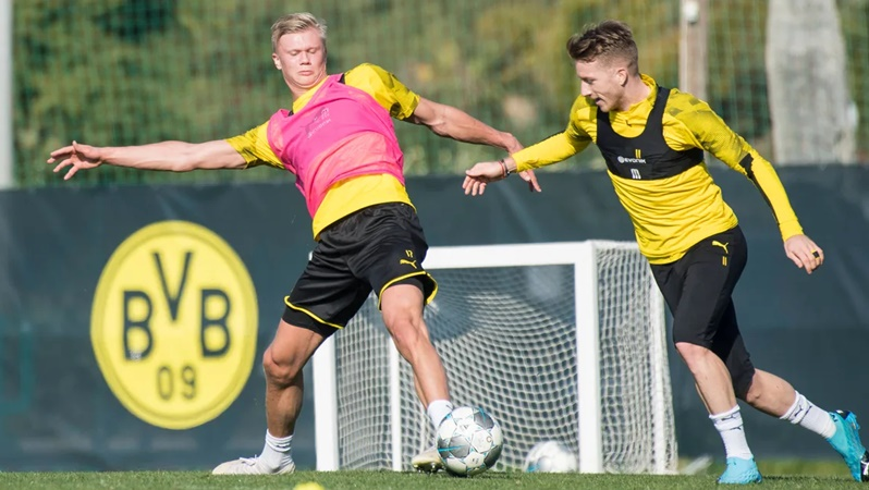 Erling Haaland and Marco Reus return to full Borussia Dortmund training - Bóng Đá