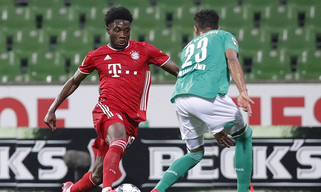 Alphonso Davies hit a top speed of 36.51km/h vs Werder - Bóng Đá