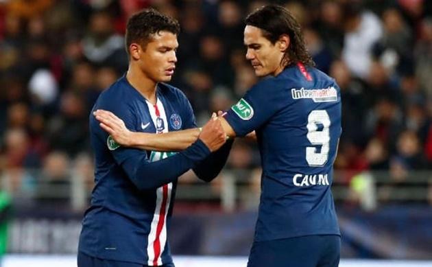 PSG' Cavani, Silva duo to play in UCL despite expiring deals  - Bóng Đá