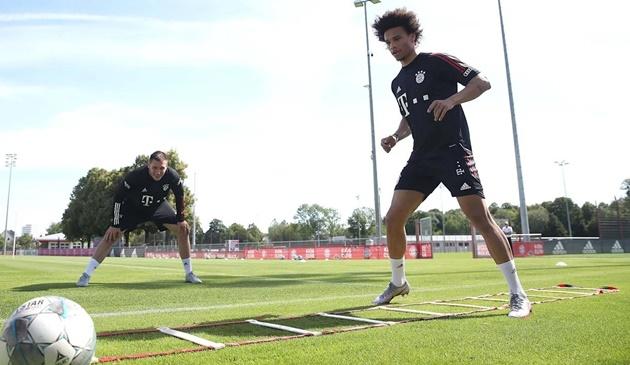 Buổi tập đầu tiên của Sane tại Bayern Munich - Bóng Đá